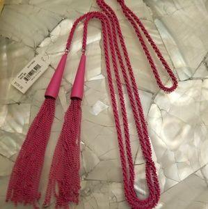 NWT Kendra Scott Matte Magenta Phara Necklace